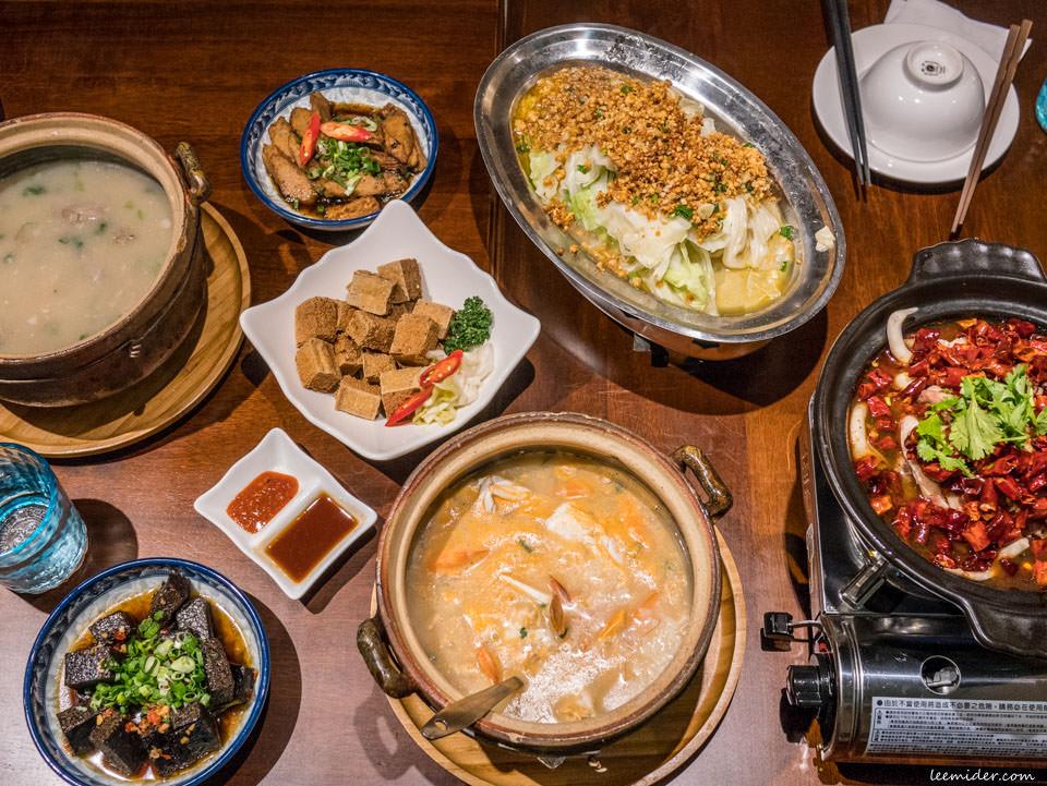 台北東區忠孝復興宵夜聚餐:十二月粥品·茶飲·私房菜大安店,也有一人份的砂鍋粥