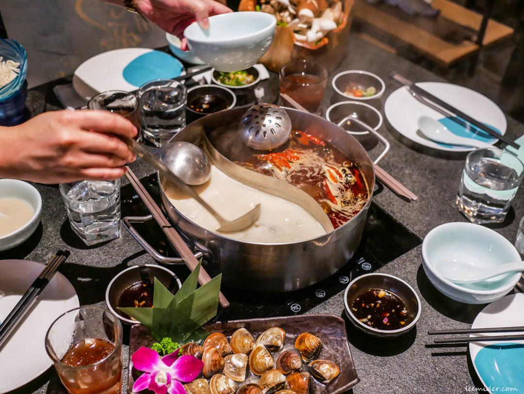 台北火鍋-撈王鍋物料理特色胡椒豬肚雞&麻辣鍋,信義區在Att 4 fun宵夜聚餐