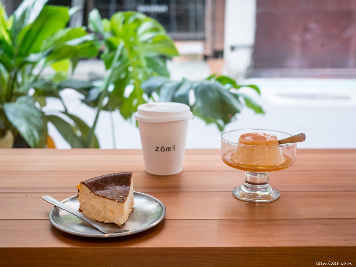 台北-zōmi cafe,簡約白的小巧咖啡室,有巴斯克乳酪和布丁,中山國中站甜點下午茶