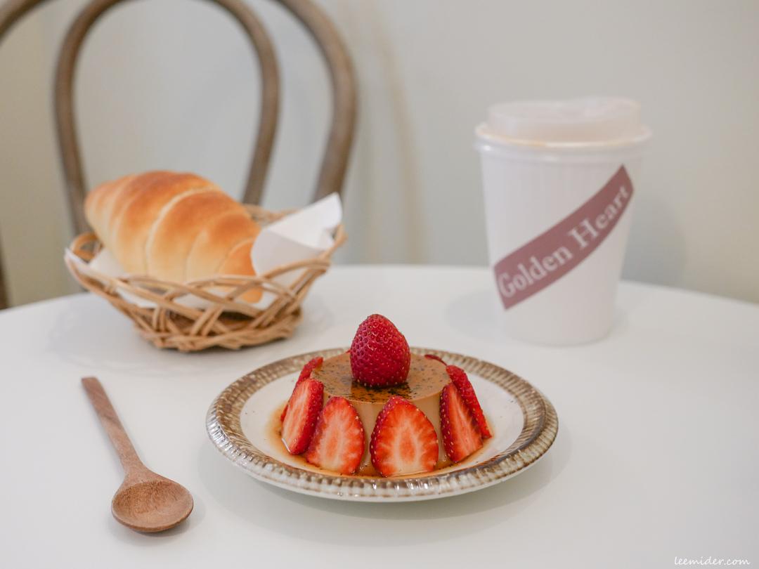 台北中山站-金心珈琲,轉角小巧的咖啡甜點店,也有冬季限定草莓布丁,赤峰街建成公園旁