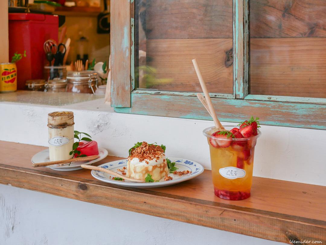 台北中山-陽苔Yang Tai,好台味的甜點飲品外帶店,創意有趣香菜花生千層蛋糕,八角肉桂捲